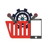 online shopping ecommerce sale cartoon