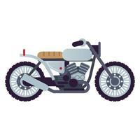cafe racer motorcycle style vehicle icon vector
