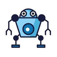 humanoid robot cyborg isolated icon