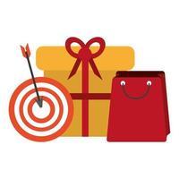 shopping commerce sale marketing cartoon