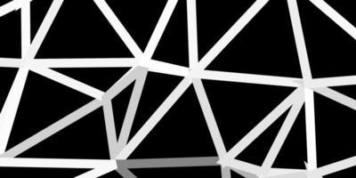 diseño de polígono degradado vectorial gris claro. vector