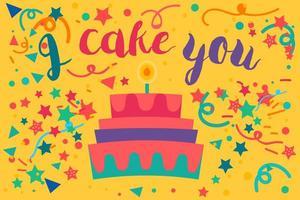 I cake you vector