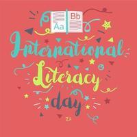 día internacional de la alfabetización vector