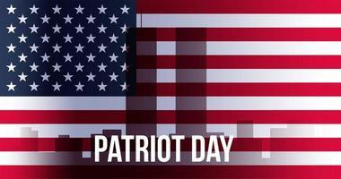 Patriot Day Banner vector