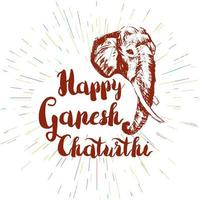Happy Ganesh Chaturthi vector