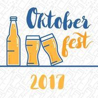 insignia de letras oktoberfest vector