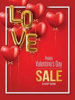 Valentine's Day sale background vector