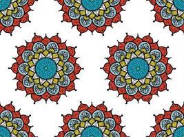 Abstract mandals boho seamless pattern vector
