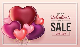 Happy valentines day vector banner greeting card