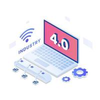 Industry 4.0 vector isometric illustration concept