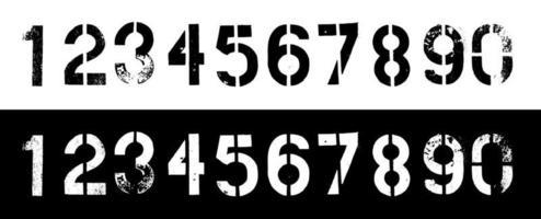 Grunge Dirty Numbers Vector Set