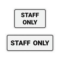 No firme ninguna entrada y el personal solo aislado sobre fondo blanco. vector