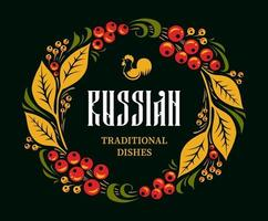 Russian Cuisine Design Template vector