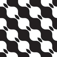 Black and white wave pattern, vector abstract for fabric and wallpaper background