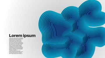 ondas de fondo vectoriales superpuestas. diseño de ilustración de aguas profundas. diseño de vector de estilo de corte de papel