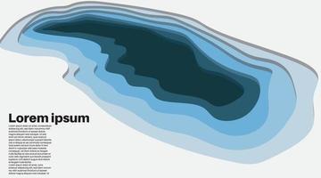 ondas de fondo vectoriales superpuestas. diseño de ilustración de aguas profundas. vector