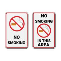 No smoking sign and no smoking in this area sign