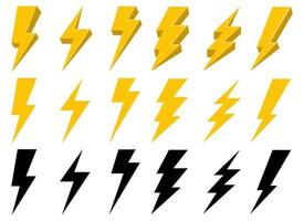 Thunderbolt vector design illustration isolated on white background