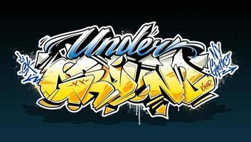 Underground Graffiti Lettering Vector Art