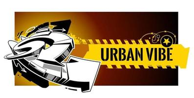 Urban Graffiti Vector Banner