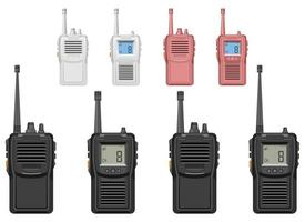 Walkie talkie vector design illustration set isolated on white background