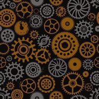 Steampunk ruedas dentadas de patrones sin fisuras vector