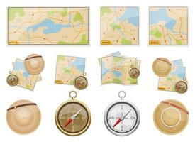 Africa safari map vector design illustration set isolated on white background