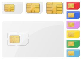 Sim card vector design illustration set isolated on white background