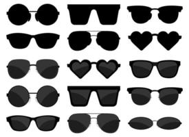 Gafas de sol conjunto de ilustración de diseño vectorial aislado sobre fondo blanco. vector