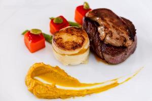 Plato de filete de solomillo de filete premium australiano