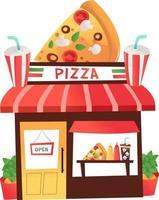 Cartoon Pizza Shop vector