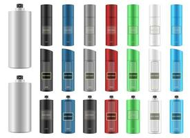 Body spray vector design illustration set isolated on white background