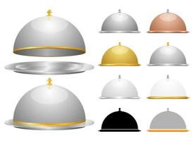 Cloche set vector design illustration set isolated on white background