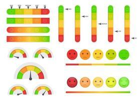 Customer feedback vector design illustration set isolated on white background