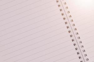 Blank notebook paper background