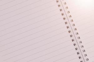 fondo de papel de cuaderno en blanco