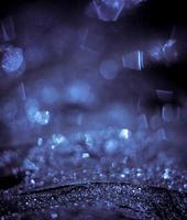 Silver bokeh lights background photo