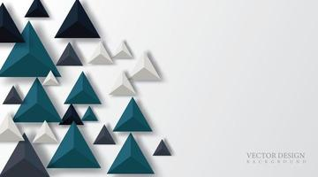 Design triangle shape 3D realistic. Futuristic Space. vector