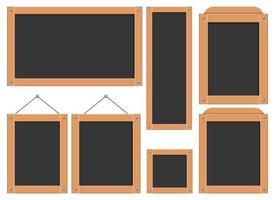 Menu black board vector design illustration set isolated on white background