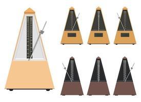Metronome vector design illustration set isolated on white background