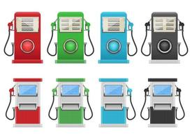 Gas pump vector design illustration set isolated on background
