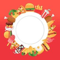 Super Fun Fast Food Copy Space Background vector