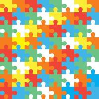 Colorful jigsaw pattern, vector illustration flat style