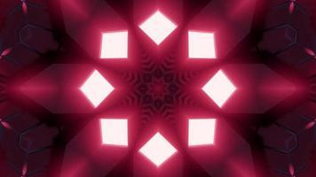 Ilustración de diseño de caleidoscopio de túnel 3d rojo, rosa y blanco para fondo o papel tapiz foto