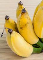 Group of cultivated bananas photo