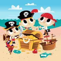 Super Cute Pirate Adventure Sandy Beach
