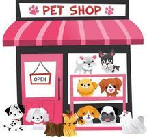 tienda de mascotas de dibujos animados vector