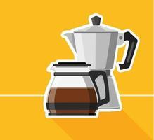 Coffee maker design vector