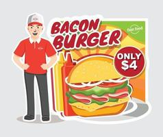 Fast food workers Vector Flat style character illustration