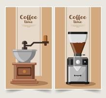 Coffee banner design set vector